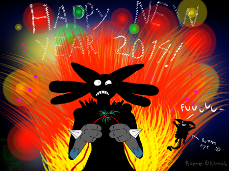 A big boom for New Year 2014 by Fangy-From-Shadow