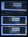 Blue-Greyish login form by piJoe93