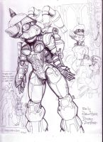 Early Hasin Power Armour by GeorgieGanarf