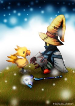 Baby Chocobo and the Wizard by theZARiP