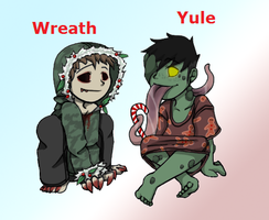 Rare Christmas Adopts_batch one_both adopted by 13OukaMocha13