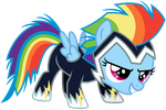 Rainbow Dash Filly in a Zap Costume by imageconstructor