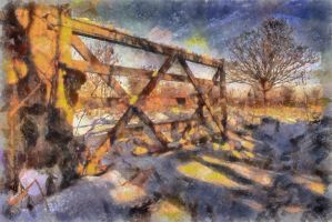 The Gate in the Snow - Paintography.. by TheBaldingOne