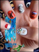 Olympic Games Nails by JawsOfKita-LoveHim
