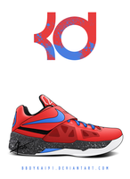 Nike Zoom KD IV 'Clippers' by BBoyKai91