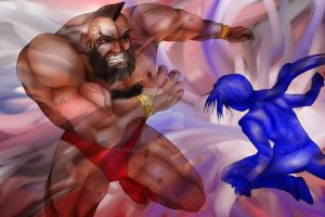 Cain X Zangief by YUKU5U3