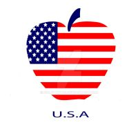 American flag as a symbol of the apple by zolotaya27