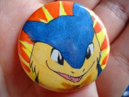 custom typhlosion button by Ununununium