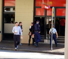 Trouble at Maccas? by Geoperno
