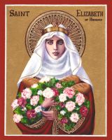 St. Elizabeth of Hungary icon by Theophilia