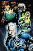 Coloring - Green and Blue Lantern Corps. by andreranulfo