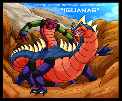Mazinger series Mikene Empire - Iguanas by GearGades