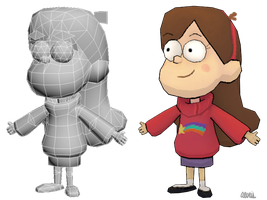 3D Mabel Pines by Aeveis