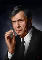 Cigarette Smoking Man by Lun-art
