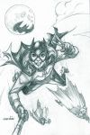 Bat Girl #Selfie (pencils) by emmshin