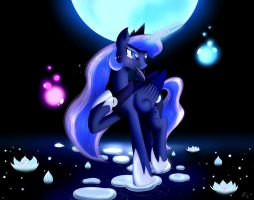 I'll pull the Moon just for you.... by BluDraconoid