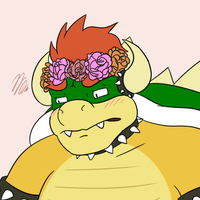 flower crown bowser by Luigimanultra7