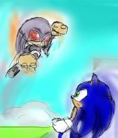 :request: Sonic vs Metal Knuckles by Cometshina