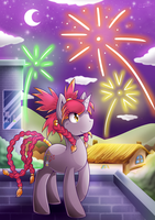 [Commission] Fireworks by vavacung
