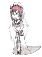 AT Eliza in a wedding dress by Gamemaster999