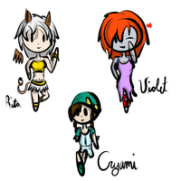Chibis by xDarkNecroFearx