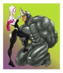 Spider Gwen and Rhino by Selkirk (COLORS) by carol-colors