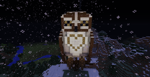 Minecraft Owl :) by PhoenixGecko