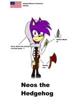 Assassin's Creed ref sheet: Neos the Hedgehog by Doggshort2