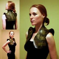 Leatherworking: Green Vest by JessicaDru