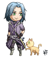 Commission - Chibi Zihark and Friend by Heroine-of-Time-7