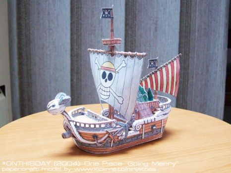 2004 One Piece Going Merry papercraft model by ninjatoespapercraft
