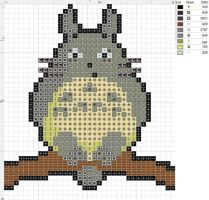Totoro Cross Stitch Pattern by SarAnna2195