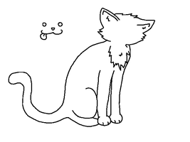 Paint friendly cat lineart by PointAdoptiez