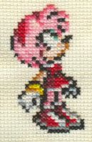 X-Stitch Fanart- Amy Rose 2 by missy-tannenbaum