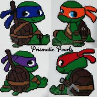 Baby TMNT Perler Wall Decorations by prismaticpearls