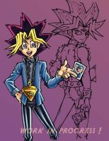 yugi and yami wip 2 by lady-cybercat