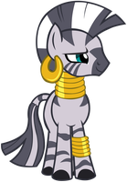 My first vector of Zecora. by Flutterflyraptor