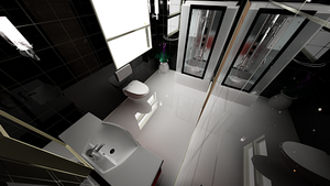Waterhouse Townhouse design 1 - Second Bathroom by MattShadowwing