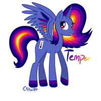 Mlp Joke OC- Princess Tempera the Thermal Alicorn by Cephei97