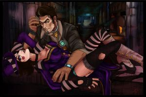 Handsome Jack and Moxxi by Galaxia0