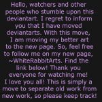 IMPORTANT UPDATE PLEASE READ by NoIdeaWhyISmile