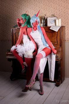 Scanty and Kneesocks by Vavalika