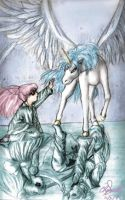 Chibiusa and Pegasus by Icequeenkitty
