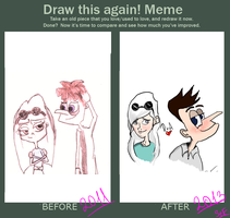 Before and After (Doof and Alana) by ArtStasai