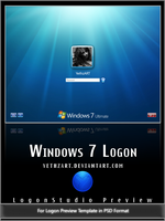 Win7 Logon Template PSD by yethzart