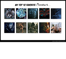 My Top 10 Favorite monsters by Bluesplendont