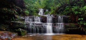 Flowing Terrace Falls by MarkLucey