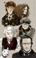 Young Sherlock Holmes - Faces by Kritzelkrams