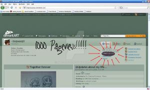 1000 Pageviews by XAzooozX