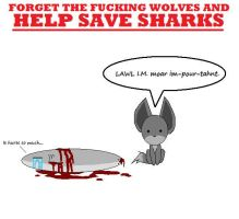 SAVE THE FUCKING SHARKS by Child-Of-Hades